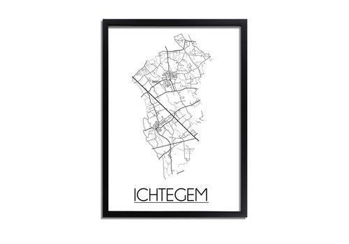 DesignClaud Ichtegem Plattegrond poster