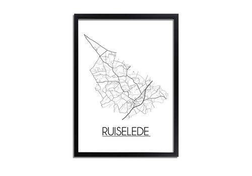 DesignClaud Ruiselede Plattegrond poster