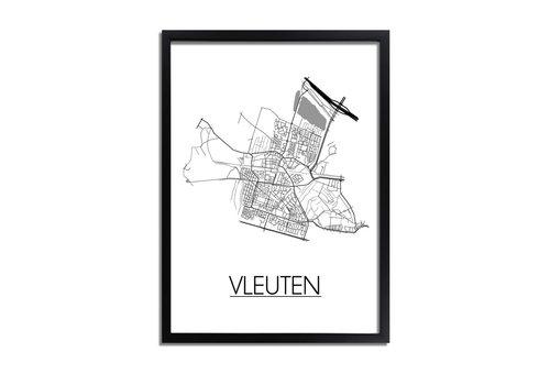 DesignClaud Vleuten Plattegrond poster