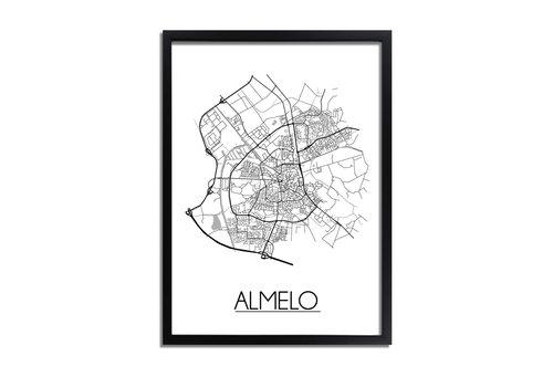 DesignClaud Almelo Plattegrond poster