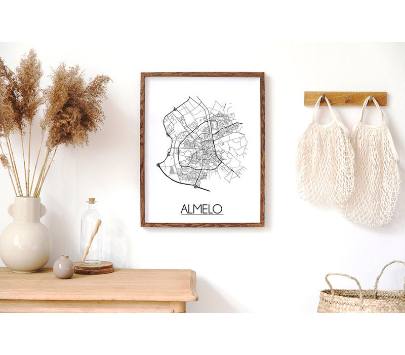 Almelo Plattegrond poster