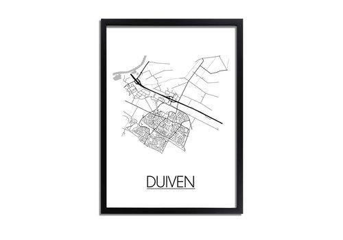 DesignClaud Duiven Plattegrond poster
