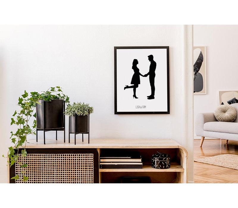 Custom Silhouette Contour poster