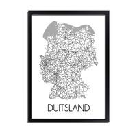Duitsland Plattegrond poster