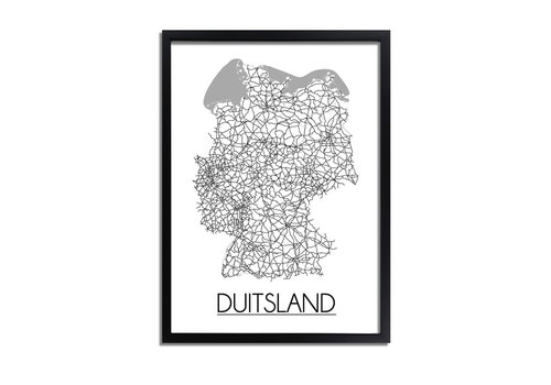 DesignClaud Duitsland Plattegrond poster