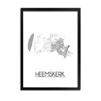 Heemskerk Plattegrond poster