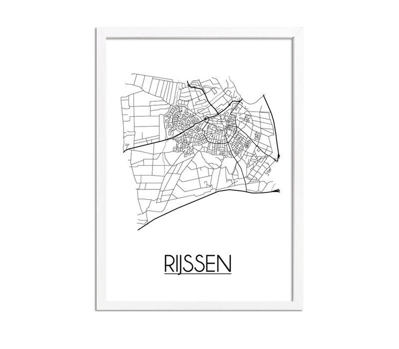 Rijssen Plattegrond poster