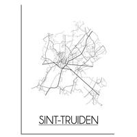 Sint-Truiden Plattegrond poster