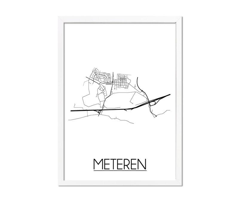 Meteren Plattegrond poster