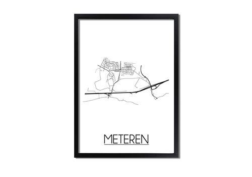 DesignClaud Meteren Plattegrond poster