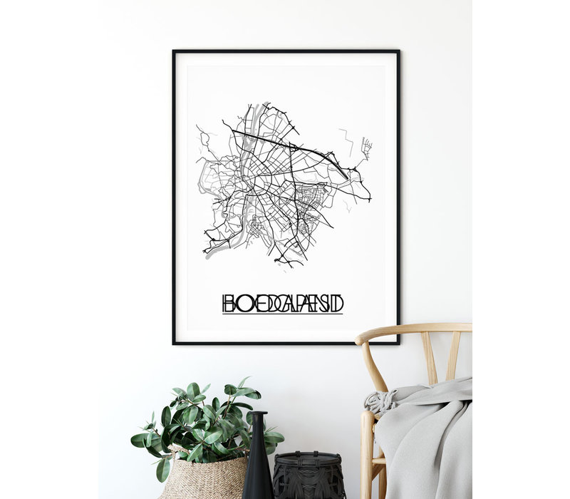 Boedapest Plattegrond poster