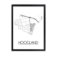 Hoogland Plattegrond poster