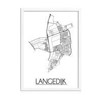 Langedijk Plattegrond poster