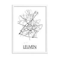 Leuven Plattegrond poster