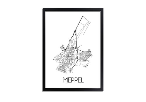DesignClaud Meppel Plattegrond poster