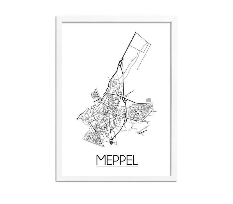 Meppel Plattegrond poster