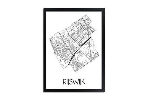 DesignClaud Rijswijk Plattegrond poster