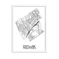 Rijswijk Plattegrond poster