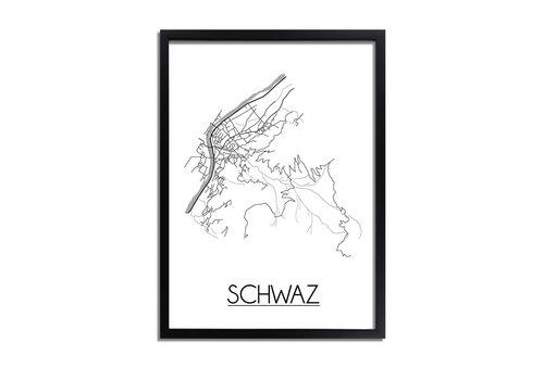 DesignClaud Schwaz Plattegrond poster