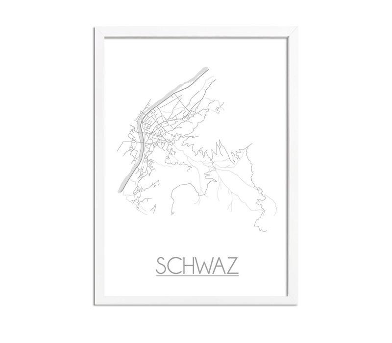 Schwaz Plattegrond poster