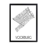 Voorburg Plattegrond poster
