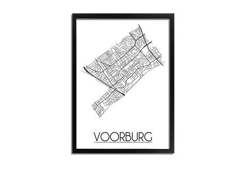 DesignClaud Voorburg Plattegrond poster