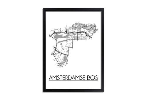 DesignClaud Amsterdamse Bos Plattegrond poster
