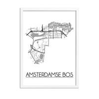 Amsterdamse Bos Plattegrond poster