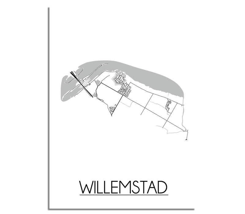 Willemstad Plattegrond poster