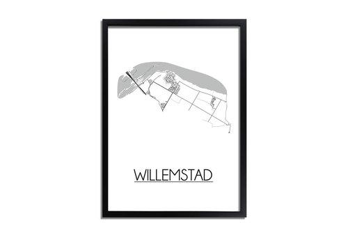 DesignClaud Willemstad Plattegrond poster