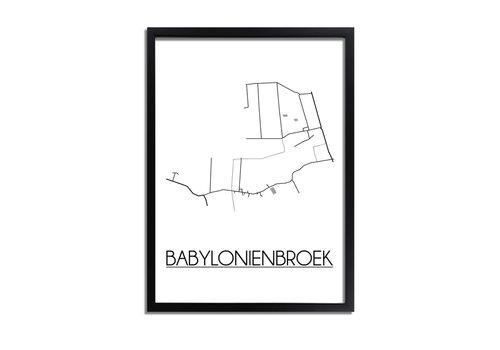 DesignClaud Babylonienbroek Plattegrond poster