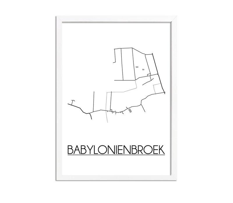 Babylonienbroek Plattegrond poster