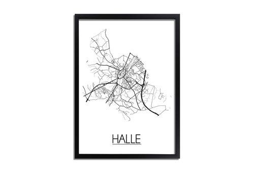 DesignClaud Halle België Plattegrond poster