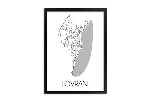 DesignClaud Lovran Kroatië Plattegrond poster