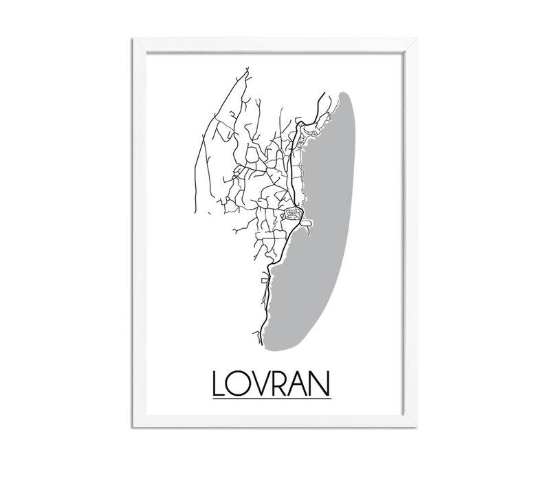 Lovran Kroatië Plattegrond poster