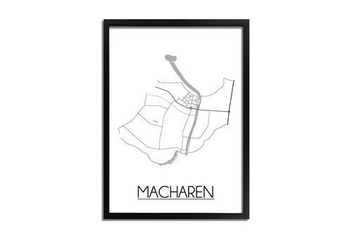 DesignClaud Macharen Plattegrond poster