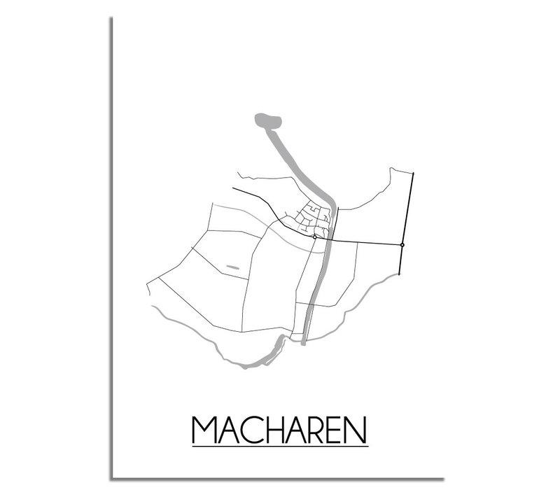 Macharen Plattegrond poster