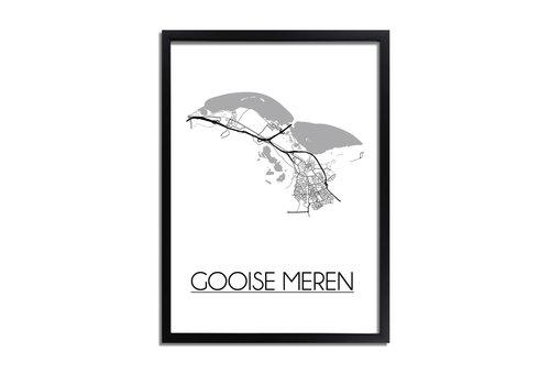 DesignClaud Gooise Meren Plattegrond poster