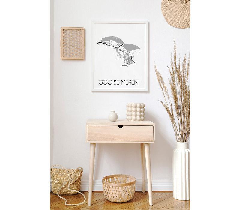 Gooise Meren Plattegrond poster