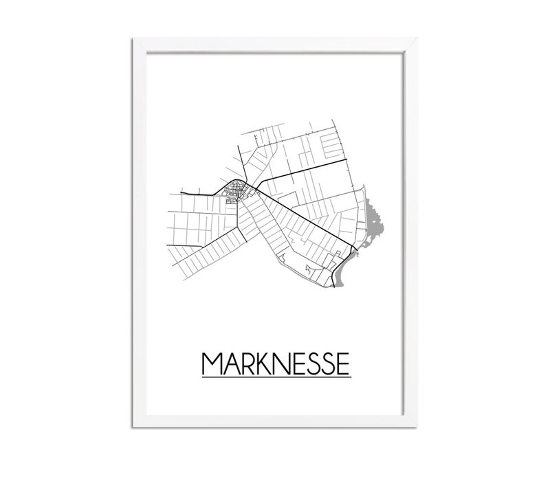 Marknesse Plattegrond poster