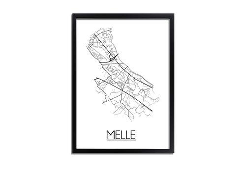 DesignClaud Melle Plattegrond poster