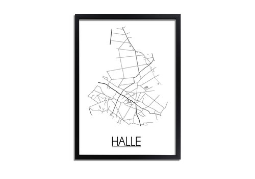 DesignClaud Halle Plattegrond poster