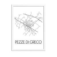 Pezze di Greco Italië Plattegrond poster
