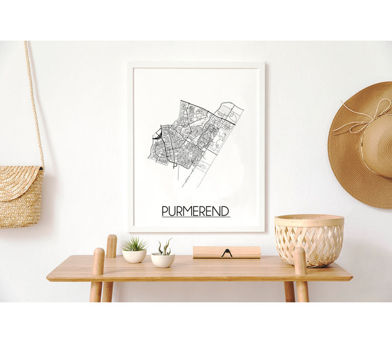 Purmerend Plattegrond poster