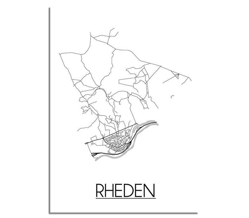 Rheden Plattegrond poster