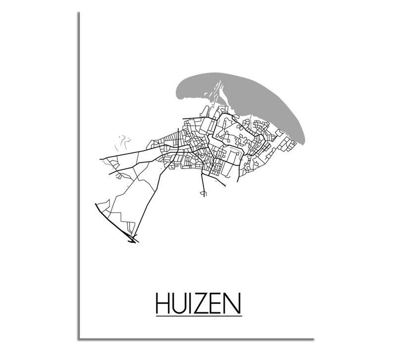 Huizen Plattegrond poster