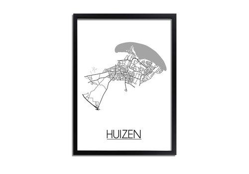 DesignClaud Huizen Plattegrond poster