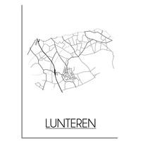 Lunteren Plattegrond poster