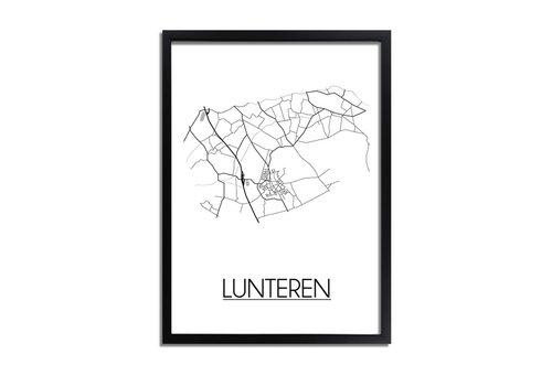 DesignClaud Lunteren Plattegrond poster