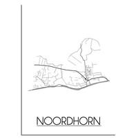 Noordhorn Plattegrond poster